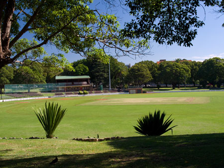 Petersham Oval where Sir Donal Bradman played