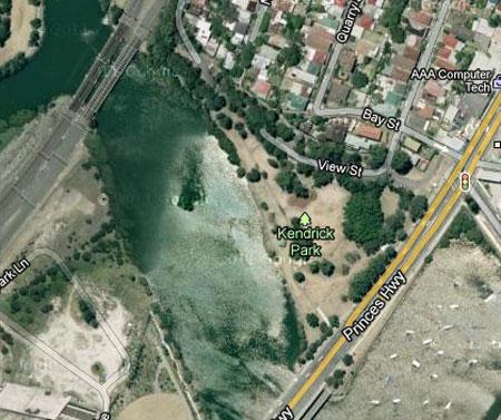 Google map of Kendrick Park.