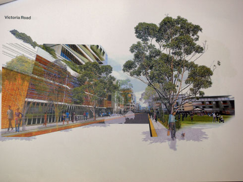 The planning diagrams for the  Victoria Road frontage of the Victoria Road precinct as part of the development proposal.  Again, nothing like the 14-storeys currently proposed.