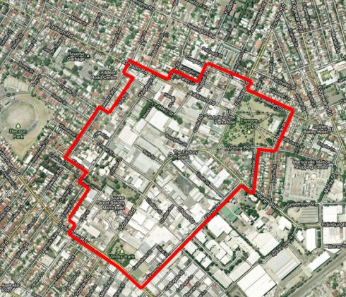 Showing the boundary of the proposed Victoria Road Precinct. Click to enlarge.