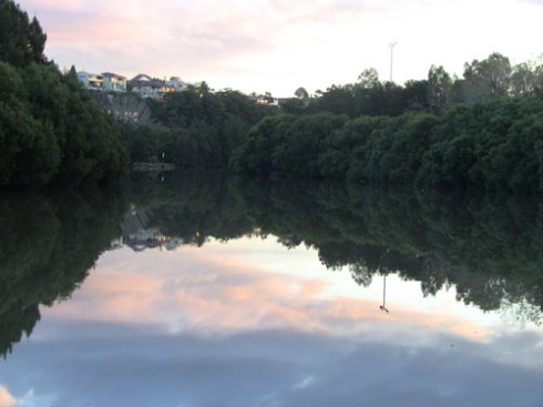 Cooks River from the Illawarra Road bridge in Marrickville