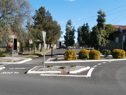 The intersection at Ewart Street Dulwich Hill has had a makeover recently & looks pretty good.
