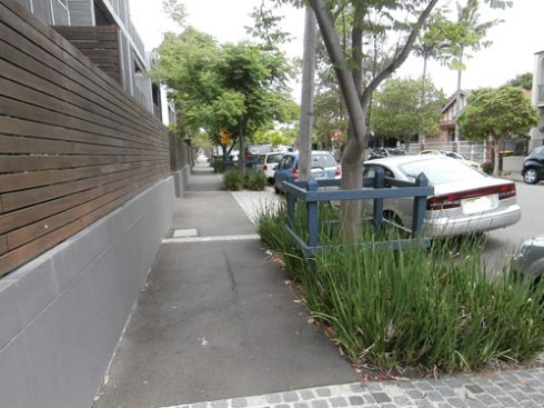 These verge gardens must have been created by Marrickville Coucil as they continue the length of this Marrickville street.  It looks great & feel even better to be amongst greenery as you walk along the street.