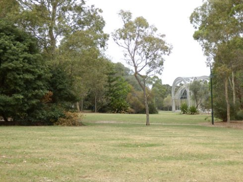 Plenty of grassed areas as well as plenty of trees & landscaped areas.  The Bicentennial Rotunda is at the far left.
