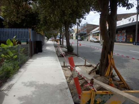 Another view showing shade & new footpath & verge gardens.  It looks terrific.