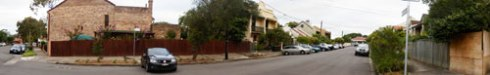 Panorama of Lincoln Street Dulwich Hill