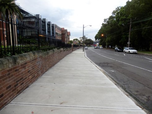 West Street will get Brush Box trees in this super-wide verge.