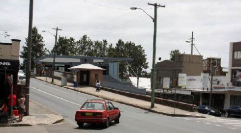 Transport NSW image of the Railway Station from the shopping strip on the southern side of Illawarra Road.