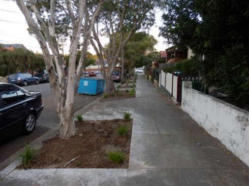 I think the new verge gardens make a massive & very positive addition to the streetscape.