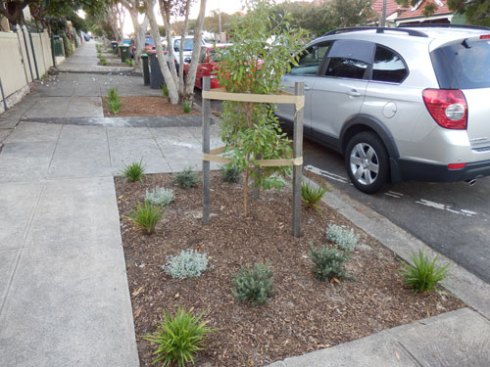 This garden has already been planted out & has a new street tree as well.  It looks terrific.