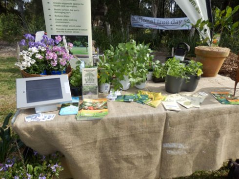 One of the displays on various types of gardening.