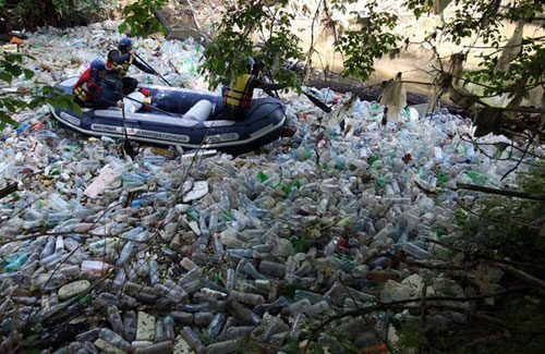 plastic bottle polluting the Cooks River | SAVING OUR ...