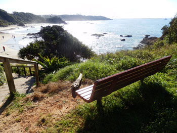 There were even park benches at the top of the hill above many beaches offering a peaceful place to spend some time taking in the spectacular views.