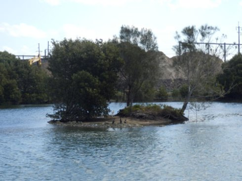 Fatima Island at high tide last weekend. With the current rate of erosion, I doubt that this island will last long.