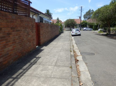Much of Stanmore has lovely streetscapes, but there are still streets like this one.
