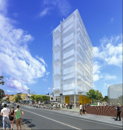 This is what is proposed for Station Street beside Illawarra Road & Marrickville Railway Station.  16 storeys - 8 storeys above what is allowed in the Marrickville Local Environment Plan.