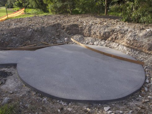 The foundations have been laid for what appears will be a very large seating arrangement.