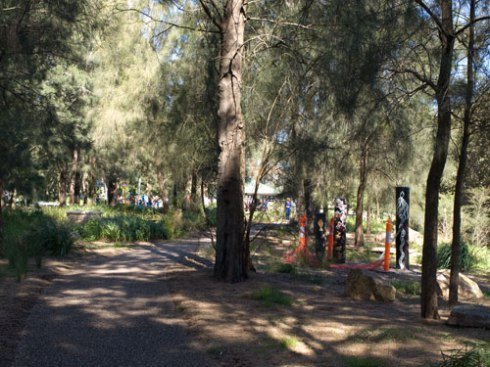 Story Poles have been erected in Kendrick Park as part of the Aboriginal Interpretation Project.