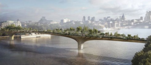 Screenshot of the Garden Bridge design - taken from the Daily Mail with thanks.