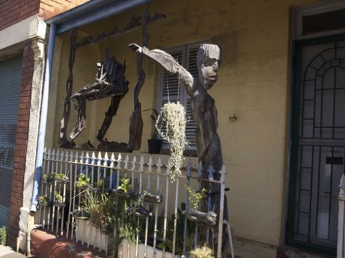 More of Hilik's sculptures in a Quuen Street front porch