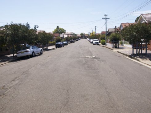 Compare with a street in Dulwich Hill that actually has many street trees