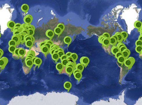 Screenshot of Nature Soundmap - so many places to have a listen to & the locations are being added to.