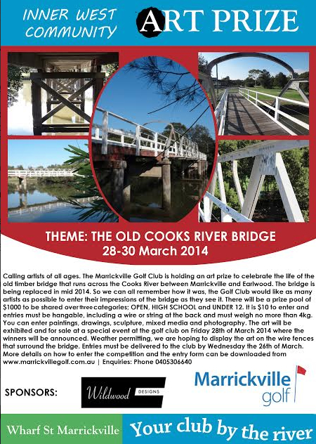 Poster for Cooks River Art Prize.