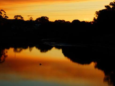 Sunset on the Cooks River at Marrickville