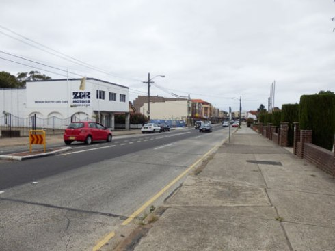 New Canterbury Road Dulwich Hill - wide footpaths and no overhead power lines.
