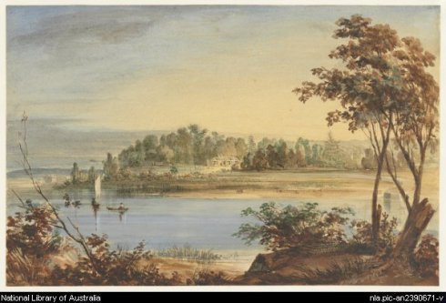 Thank you to the National Library of Australia for permission to publish this 1845  [View of Tempe on Cook's River, near Sydney, N.S.W] watercolour by  Martens, Conrad, 1801-1878.  See -http://trove.nla.gov.au/version/32299232