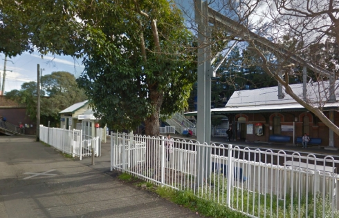 Google Street view from 2013 of Marrickville Railway Station from Station treat