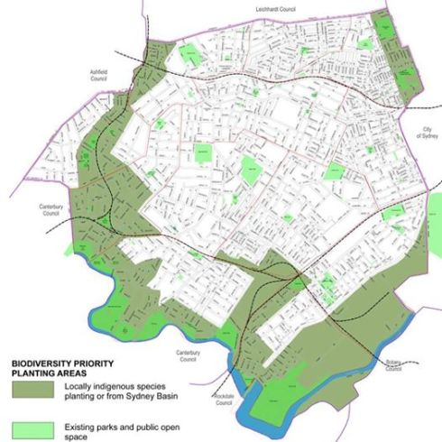 Biodiversity Priority Planting Areas in khaki green from the Street Tree Master Plan.  I do not understand why the aim is not to make whole of the  municipality great for wildlife.