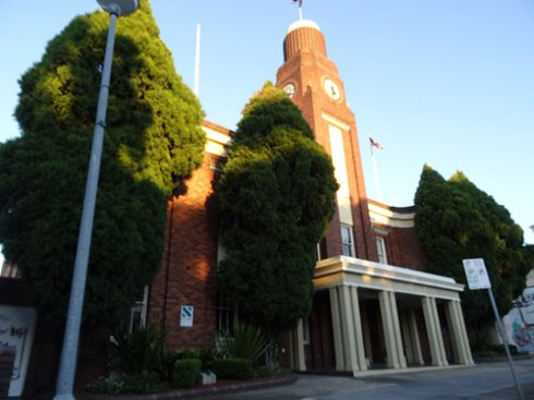 Petersham Town Hall.  These trees create a positive impact as you travel down Crystal Street.   Why would the trees need to be removed at Marrickville Town Hall & not here.  They are the same species.
