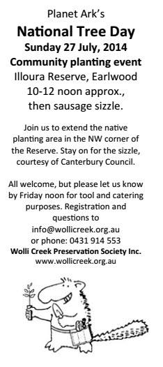 Another local opportunity to plant trees.
