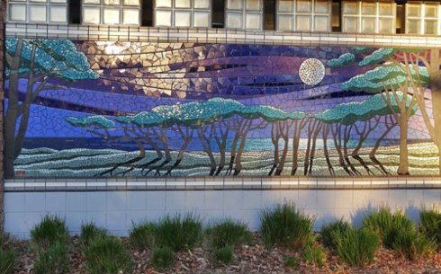 This one depicts the moon over Botany Bay - again with the iconic trees.