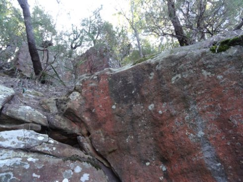 Sandstone is a major feature of the land here.