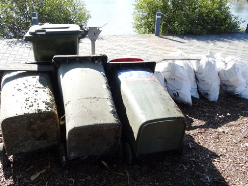 Three garbage bins removed form the Cooks River!