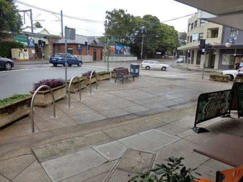 Public space Petersham shops