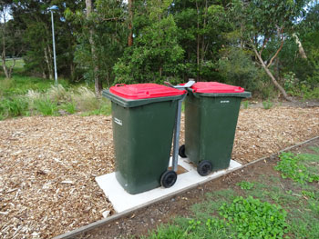 New bin holders, which will prevent bins being removed & tossed into the Cooks River.