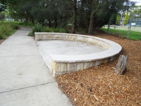 """Gathering area' in the Cooks River Valley Garden"