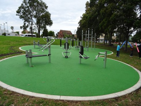 Pretty flash outdoor exercise equipment.