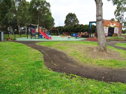 The children's playground.