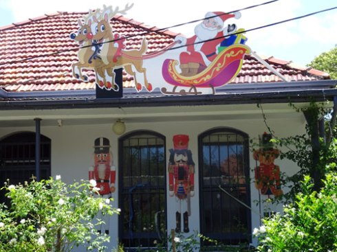 Wonderful decorations in Dulwich Hill.
