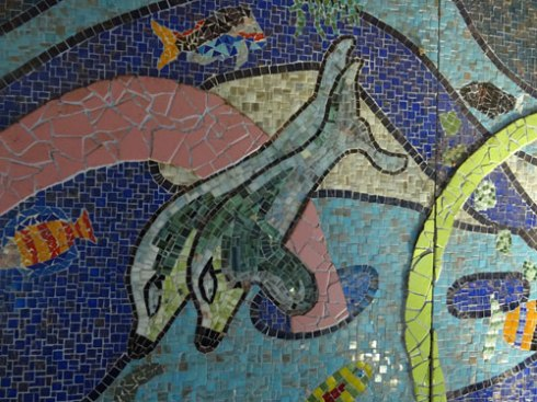A small part of this fantastic mosaic of the Hawthorne Canal Mosaic Mural,