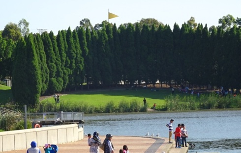 A small view of Lake Belvedere.