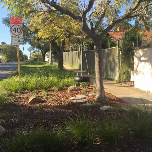Photo of a verge garden by Mayor John Carey City of Vincent Council Perth Western Australia.  Used with thanks.