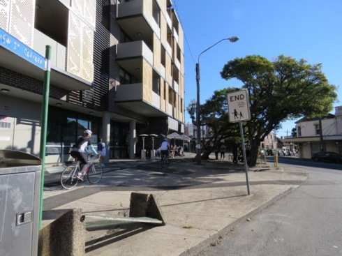 Showing the corner from Herbert Street