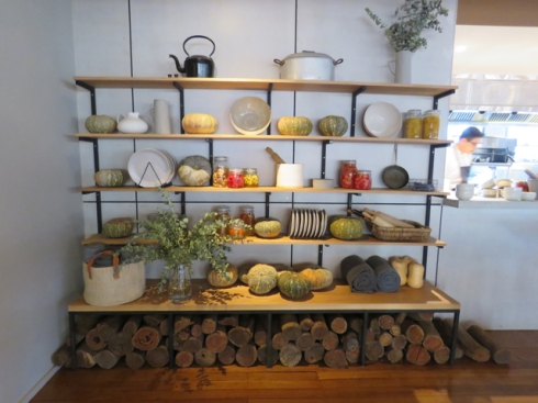 One of the lovely displays inside the restaurant Acre.