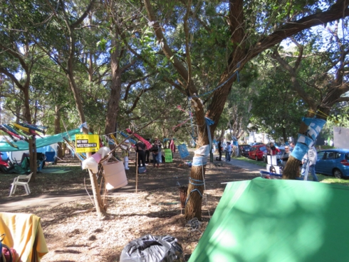 The Camp of the WestConnex Action Group & supporters