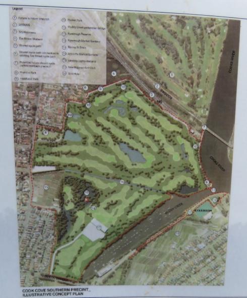 DA image of relocation of Kogarah Golf Course.